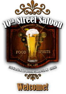 10th street saloon plainwell logo
